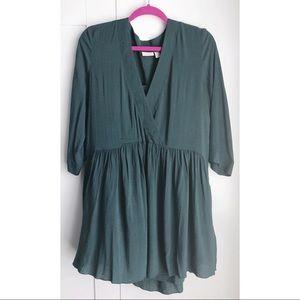Turquoise babydoll dress
